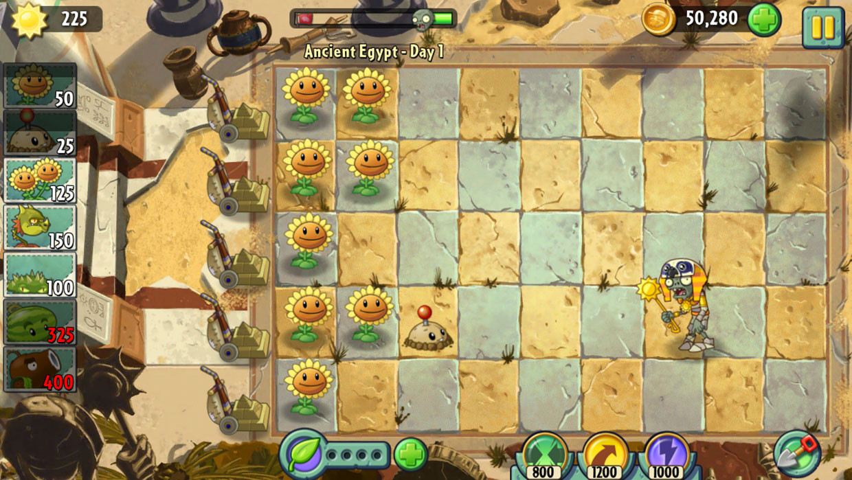читы Plants vs zombies