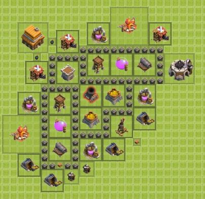 clash of clans TH4 для фарма 3
