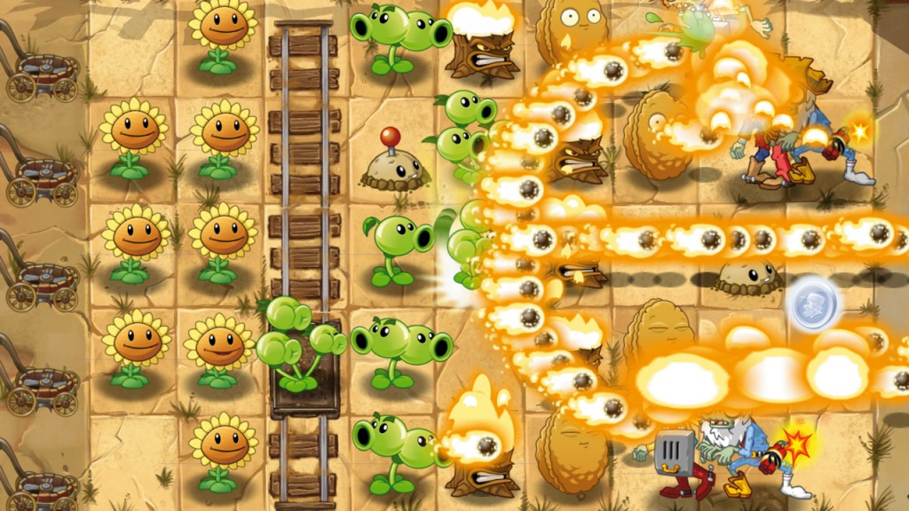 атака в plants vs zombies 2 на пк