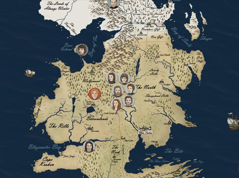 Game of Thrones Map Game